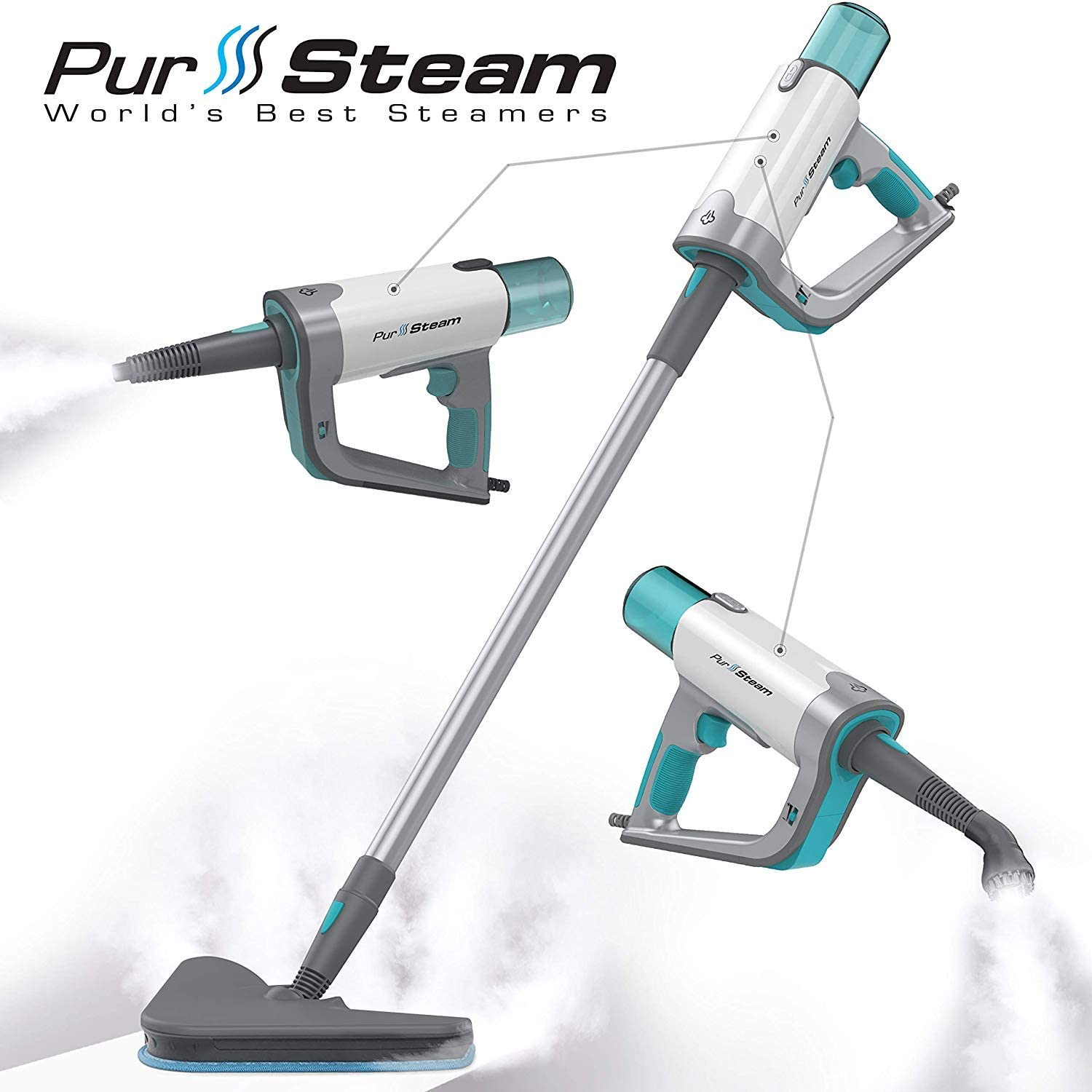 PurSteam 12 in 1 Steam Mop